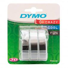 DYMO 3D Juostelė Mechaniniam Etikečių Spausdintuvui 9mm x 3m (3vnt.) / juoda (S0847730)