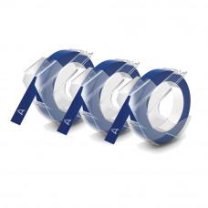 DYMO 3D Juostelės Mechaniniams Etikečių Spausdintuvams 9mm x 3m (3vnt.) / mėlyna (S0847740)