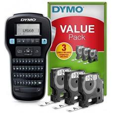 DYMO LabelManager 160 Etikečių Spausdintuvas (S0946340) + 3 vnt. D1 12mm juostelės - RINKINYS