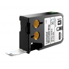 Dymo XTL Laminuotos etiketės laidams/kabeliams 21mm x 21mm / juodas ant baltos (1868704)