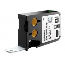 Dymo XTL Laminuotos etiketės laidams/kabeliams 21mm x 39mm / juodas ant baltos (1868705)