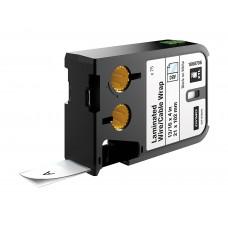 Dymo XTL Laminuotos etiketės laidams/kabeliams 21mm x 102mm / juodas ant baltos (1868706)