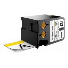 Dymo XTL Etiketės saugai 51mm x 102mm / juodas ant baltos/Geltona antraštė (1868714)