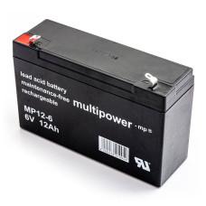 Akumuliatorius Multipower MP12-6 6V 12Ah AGM be priežiūros