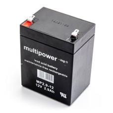 Akumuliatorius Multipower MP2.9-12 12V 2.9Ah AGM be priežiūros