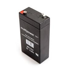 Akumuliatorius Multipower MP3.8-6 6V 3,8Ah AGM be priežiūros