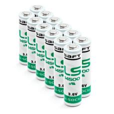 12 x Baterija ličio Saft LS14500, LS 14500 3.6V Li-SOCl2 AA