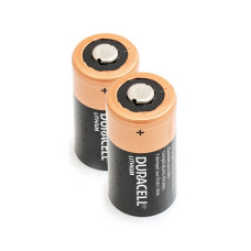 2 x Ličio Baterija Duracell 3V DL123A, K123LA, CR123, CR123A, EL123AP, EL123, CR17345