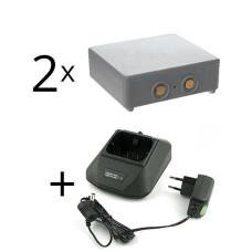 Adapteris 12-230V  Hetronic Mini + 2 baterija HE900, 68300600, 68300900, 68300940, 68300990, RHE3614KG, KH550025