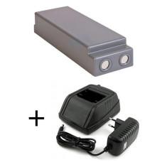 Adapteris 24-230V Scanreco 9000-000434, 9000-000435 + baterija 13445, 16131, 17162, 590, 592, 593, RC400, IM6024, RSC7220