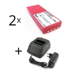 - adapteris  HBC Radiomatic 12-230V + 2 baterija FUB10AA, BA214061, BA213020, BA214060, BA210040, BA21060