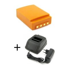 - adapteris  HBC Radiomatic 12-230V + baterija FUB05AA, FUB05XL, BA225000, BA225030