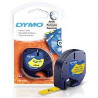 DYMO LetraTag Plastikinė Juostelė 12mm x 4m / juodas ant geltonos (S0721570)