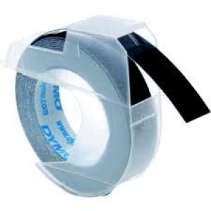 DYMO 3D Juostelė Mechaniniam Etikečių Spausdintuvui 9mm x 3m / juoda (S0898130 / 524709)