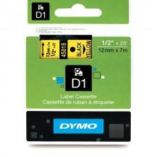DYMO D1 Juostelė 12mm x7m / juodas ant geltonos (45018 / S0720580)