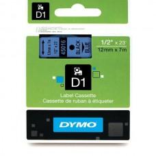 DYMO D1 Juostelė 12mm x7m / juodas ant mėlynos (45016 / S0720560)