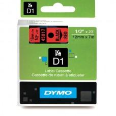 DYMO D1 Juostelė 12mm x7m / juodas ant raudonos (45017 / S0720570)