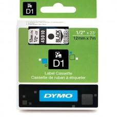 DYMO D1 Juostelė 12mm x7m / juodas ant skaidrios (45010 / S0720500)