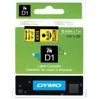 DYMO D1 Juostelė 6mm x7m / juodas ant geltonos (43618 / S0720790)
