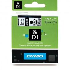 DYMO D1 Juostelė 6mm x7m / juodas ant skaidrios (43610 / S0720770)