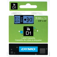 DYMO D1 Juostelė 9mm x 7m / juodas ant mėlynos (40916 / S0720710)