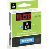 DYMO D1 Juostelė 9mm x 7m / juodas ant raudonos (40917 / S0720720)