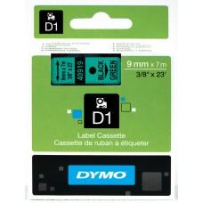 DYMO D1 Juostelė 9mm x 7m / juodas ant žalios (40919 / S0720740)
