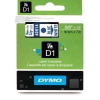 DYMO D1 Juostelė 9mm x 7m / mėlynas ant baltos (40914 / S0720690)