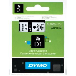 DYMO D1 Juostelė 9mm x7m / juodas ant baltos (40913 / S0720680)
