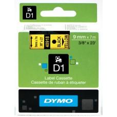DYMO D1 Juostelė 9mm x7m / juodas ant geltonos (40918 / S0720730)