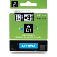 DYMO D1 Juostelė 9mm x7m / juodas ant skaidrios (40910 / S0720670)