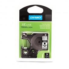 DYMO D1 Juostelė Poliesteris 12mm x 5.5m / juodas ant baltos (16959 / S0718060)