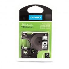 DYMO D1 Juostelė Poliesteris 19mm x 5.5m / juodas ant baltos (16960 / S0718070)