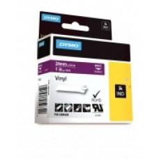 DYMO Rhino Vinilinė Juostelė 24mm x 5.5m / baltas ant violetinės (1805428)